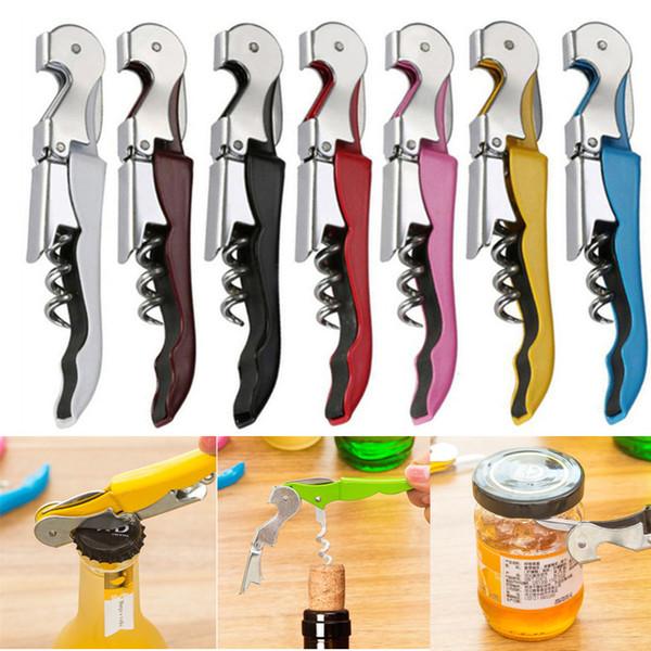 Tirbuşon şarap Şişe Açacakları çoklu Renkler Çift Reach Şarap bira şişesi Açıcı ev mutfak aletleri MMA2944-B5