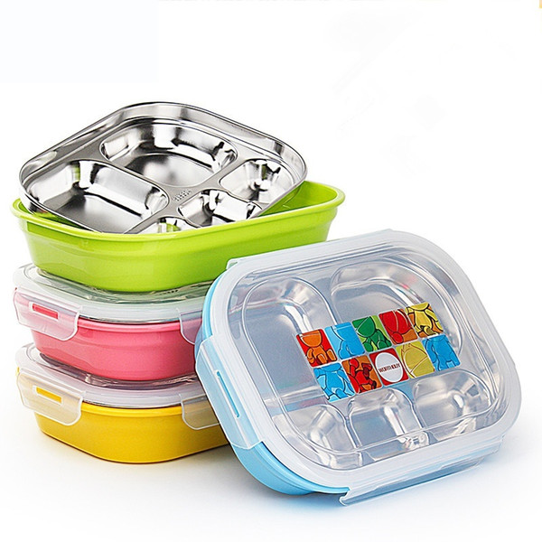 Boxes Hoomall Plastic Lunch Boxes Colorful Lunch Bento Box Dinner Microwave Dinnerware Food Storage Container Kids Picnic Home Supply