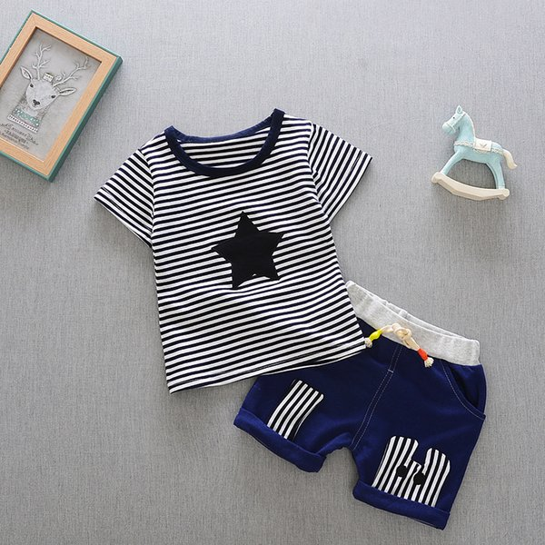 Boys Clothes 2019 New Cotton Casual Kids Outfits Star Stripe T-shirts +Pants 2pcs Baby Children Clothing Set