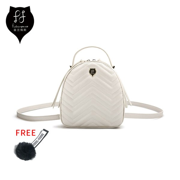 Fulanpers Mini Backpack Female Cute Womens Design Crossbody Bag Fashion Kpop Backpack Ladies Pu Small Black Backpack Y19051502