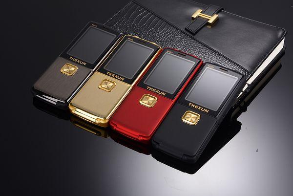Unlocked Fashion luxury mobile phone Original TKEXUN 8800 for woman man Dual sim card Dual Torch cell phone cellphone