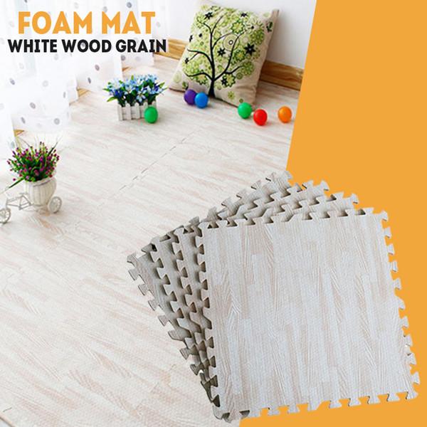 Legno bianco grano bambino EVA schiuma gioco tappetino per bambini tappeti giocattoli tappeto per bambini interblocco esercizio piastrelle per pavimenti 30 cm x 30 cm