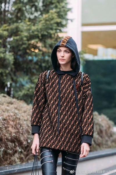 Hoodies das mulheres Dupla F Carta Imprimir Hoodies Outono Moletons Com Capuz Oversize Camisola Solta para Mulheres Malhas Casuais