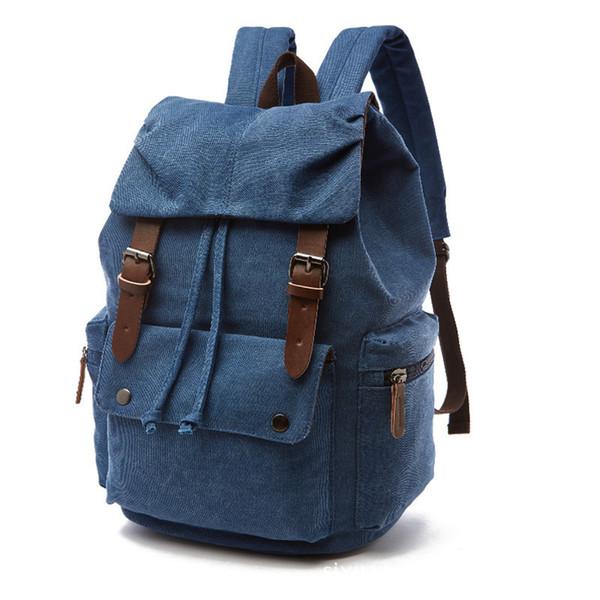Vintage Men Backpack Canvas Brand Design Backpacks For Male Schoolbag Travel Backpack Student Leisure Shoulder Bags School Bag