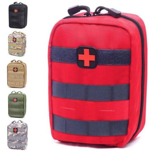best selling Empty Bag for Emergency Kits Tactical Medical First Aid Kit Waist Pack Outdoor Camping Hiking Travel Tactical Molle Pouch Mini Newest