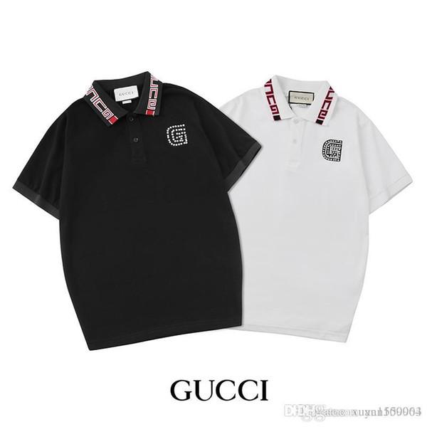Camiseta de manga corta con solapa para hombre, polo de algodón puro, camiseta de manga corta y ropa de hombre para el verano.