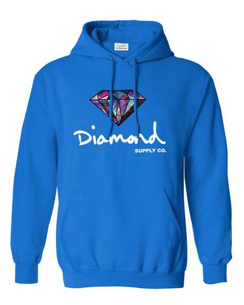 Wholesale Diamond Men Hip Hop Hoodies Sudaderas Hombre Men Sweatshirt Hooded Skateboard Pullover free shipping LX2