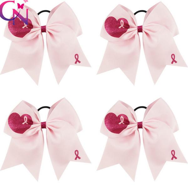 Niñas Arcos rosas hairbands niños amor rojo corazón impreso elástico scrunchie ponytail titular niños día de San Valentín accesorios para el cabello F2711