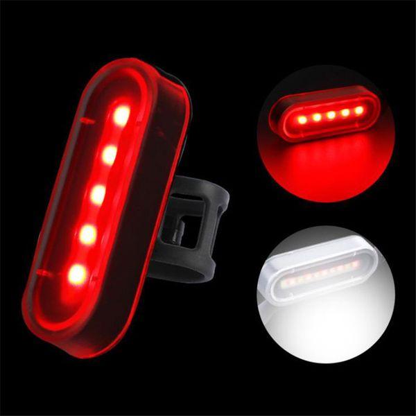 Fahrradrücklicht Wasserdichte Reitrücklicht LED USB gebührenpflichtiges Mountain Bike Scheinwerfer Fahrrad-Licht-Endstück-Lampe Fahrrad