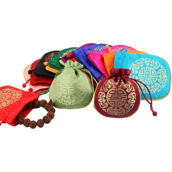Wholesale 10pcs Chinese Handmade Vintage Soie Bijoux Sachets /& Cadeau Sac à Main Sac