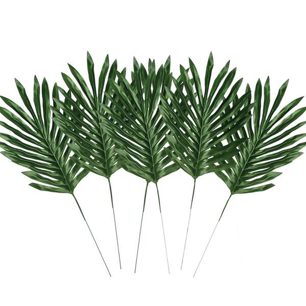 Новый Большой пальмовых листьев Шелковый Поддельный растениеводов Искусственные листьев для дома и офиса украшения 6шт / Set