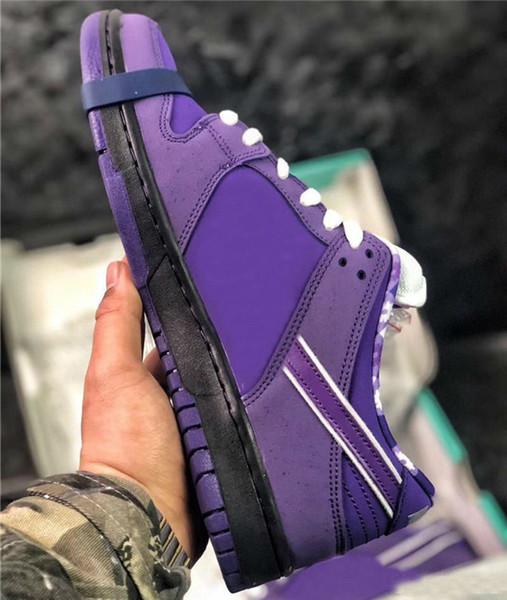 Tasarımcı Kavramlar Yakınlaştırma SB Dunk Düşük Erkekler Kadınlar Nefes Sneakers Pro QS CNPTS Mor Istakoz Dunks Eğitmenler Zapatillas için Ayakkabı Koşu