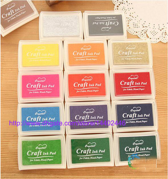 top popular Free Shipping 200pcs Multi Color 15 colors DIY Work Oil Gradient Stamp Set Big Craft Ink Pad Inkpad Craft Paper 2021