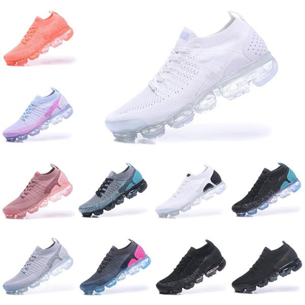 Vente chaude pas cher Hommes Femmes Sports de plein air chaussures 2 Vapors Fly 2.0 Tricot 2s Designer de luxe en cours d'exécution Sneakers Respirant Durable