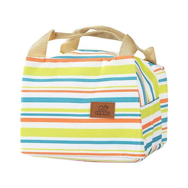 Sacchetti di raffreddamento isolati per borsa da pranzo portatile con cerniera a strisce e cerniera per l'ufficio della scuola di picnic di viaggio YS-ACQUISTA
