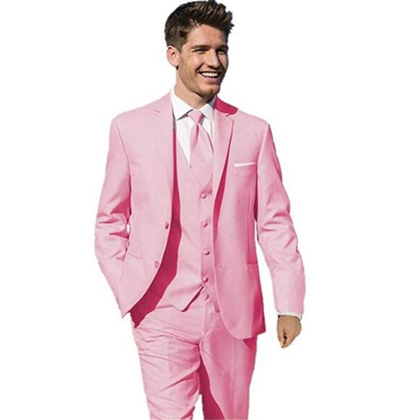 chaqueta de traje rosa hombre