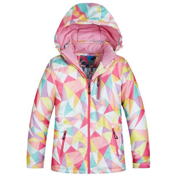 MUTUSNOW Ski Jacket Girls Winter Brands High Quality Waterproof Breathable Windproof Super Warm -30 Degrees Snowboard Snow Child Jacket Kids