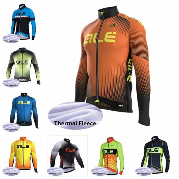 2019 ALE Cycling Winter Thermovlies Trikot Langarm Radfahren Mountainbike Windgeschwindigkeit trocken Fahrrad Radtrikot K081617