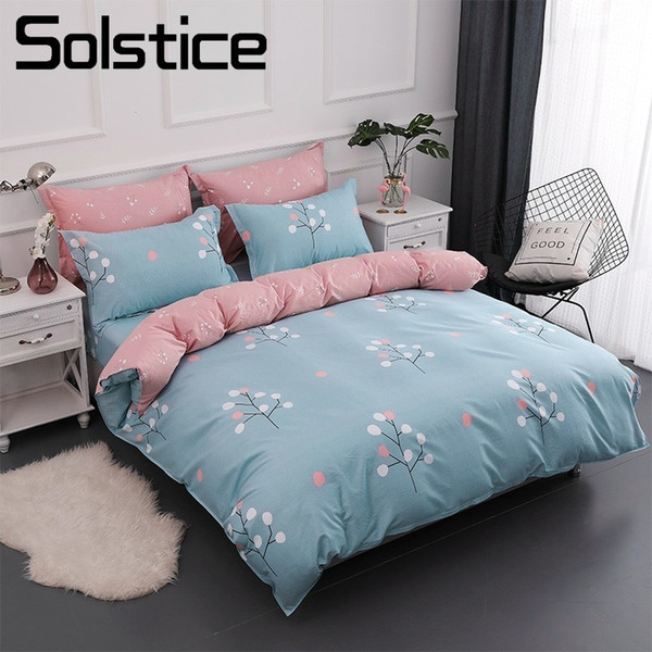 Solstice Home Textile Simple Tree Pink Blue Duvet Cover Pillowcases Bed  Sheet 100% Cotton Bedding Sets Girl Baby Kid Teen Linen 100 Cotton  Comforter ...