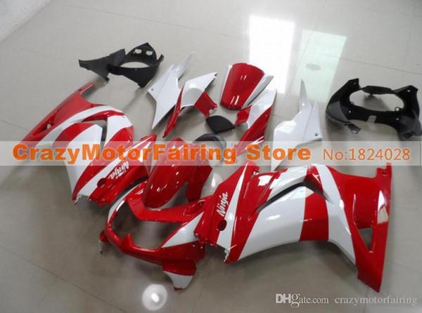 3 Free gifts New Fairing Kits For KAWASAKI Ninja250R 250R EX250 2008 2009 2010 2011 2012 Ninja set fairings bodywork Cool glossy red white