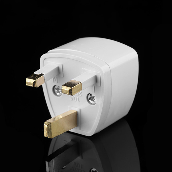 best selling Universal US EU AU Converter to UK HK AC Travel Power Plug Charger Adapter Connector UK plug White