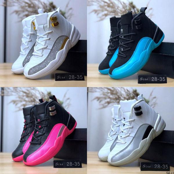 Дети 12s 12 Высокие Баскетбольные Ботинки для Мальчиков Спортивные Девочки Кроссовки Детский Спорт Дети Подростковые Retroes Chaussures Размер 28-35