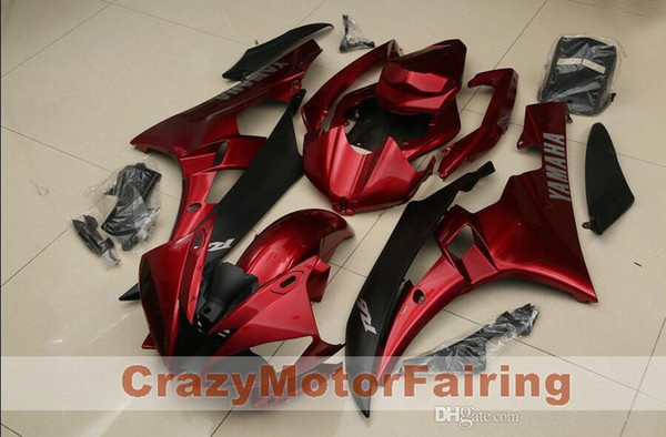3 Free gifts New Injection ABS Fairing Kits 100% Fitment For YAMAHA YZF-R6 06-07 YZF600 2006 2007 R6 bodywork set red and black
