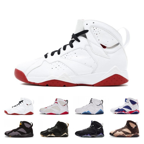 7s Patta Men Basketball Shoes 7 Ray Allen Bordeaux Reflections of A Champion Fadeaway Hare Olympic Mens Trainer Designer Sport Sneaker