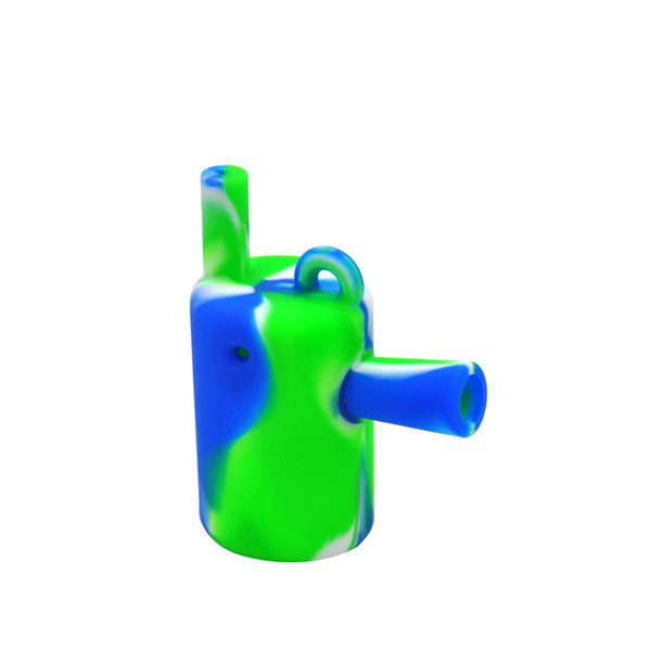 Mini Silicone Bong Water Hand Pipe With Glass Bowl 5 Inch Silicon Bubbler Hookah Dab Rigs For Dry Herb Concentrate