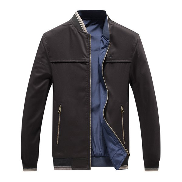 good quality 2019 Brand New Men's Jackets Cotton Wash Jacket Overcoat For Male Slim Stand Collar Jacket Outer Wear Clothing