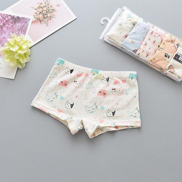 5Pcs/lot Girls Cotton Boxer Briefs Children Panties Girls Boxer Shorts Children's Panties Kids Underwear For 2-12 Years