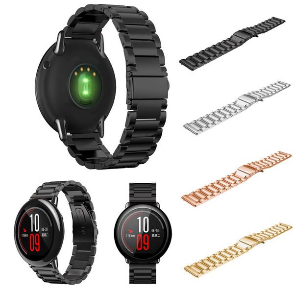 Cinturino da polso in acciaio inossidabile per Xiaomi Huami Amazfit Sprot Smart Watch Anello di ricambio per cinturino di lusso Correa relo