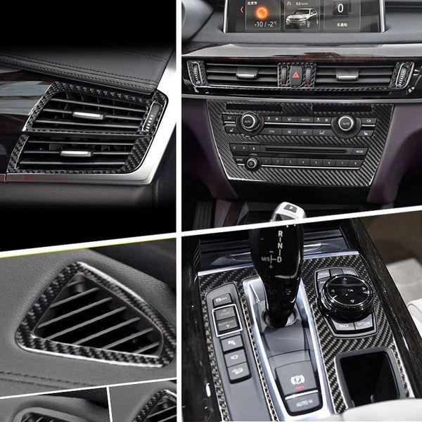 Consola del coche Panel de cambio de marchas Salida de aire Luz de lectura delantera Panel de marco Lámpara cubierta decorativa Recorte Pegatinas Para BMW X5 F15 X6 F16