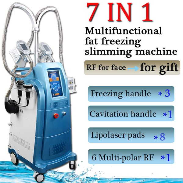 grasso di cavitazione congelamento dimagrante macchina di raffreddamento teste di perdita di peso di cavitazione per il dimagrimento vuoto macchina rf di cavitazione