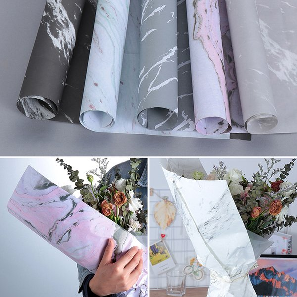 Roll Marble Pattern Wrapping Paper Diy Scrapbook Decorative Crafts Flower Making Birthday Gift Bouquet Wrapping Paper Wrapping Paper Rolls Wholesale