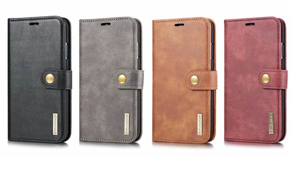 Luxury dg ming 2 in 1 detachable removable wallet leather ca e cover for iphone 11 pro max x xr 8 7plu am ung 8 9 10 plu note10 pro