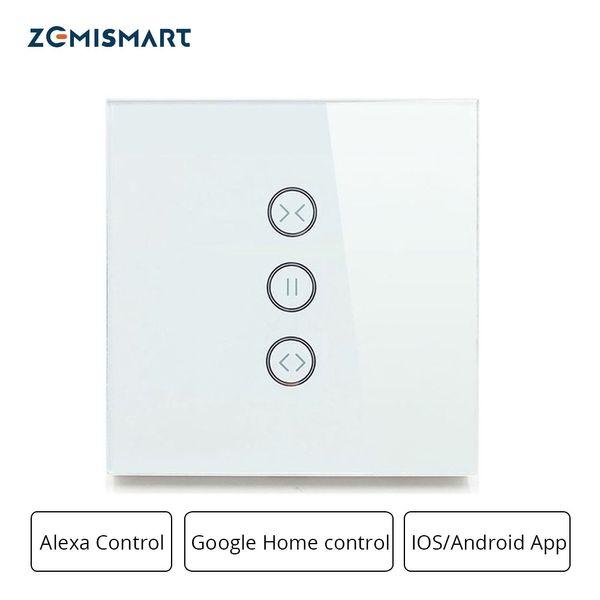 Zemismart Google-Startseite Alexa-Echo-Vorhang-Schalter Jalousieschalter für Standardrollenmotor-Schiebemotor Wifi APP Siri Control