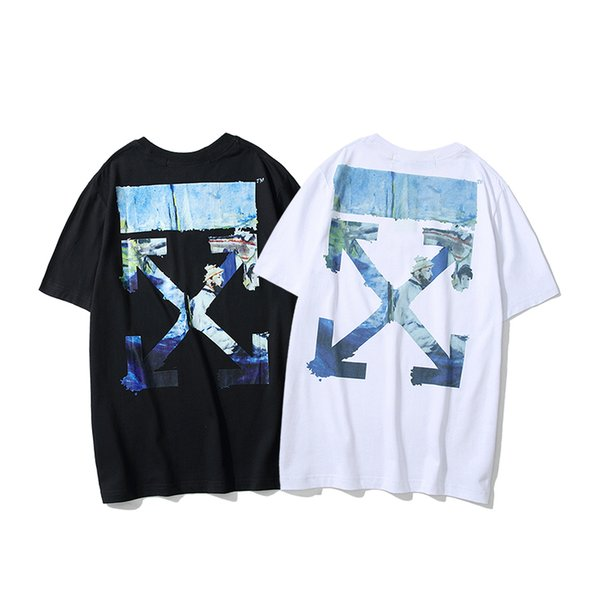 Mens T Shirts 2019 Summer New Designer Brand Clothes Fashion Letter Print T-Shirt Trend Street Style Tees 2 Colors