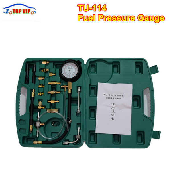Best price 2017 Newest TU-114 Fuel Pressure Gauge TU 114 For Fuel Injection Pump Tester Kit TU114 Free Shipping Pressure
