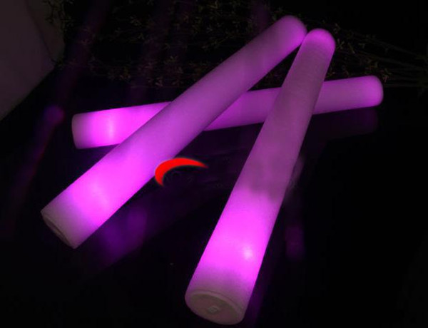 top popular LED Light Sticks New Foam Props Concert Party Flashing LED Light Luminous Sticks Christams Festival Children Toys Gifts DH0323 2021