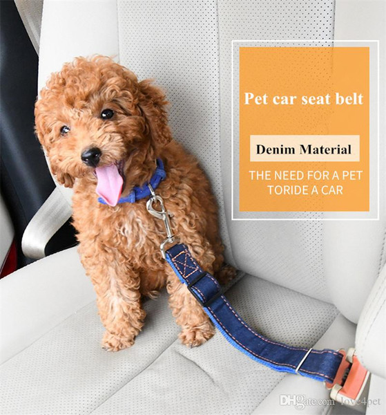 Pet Seat Belt >> 2019 B50 Jean Dog Car Seat Belts Denim Pet Seat Belt Nylon Dog Traction Rope Keep Pet S Safety In Ca From Pettown 3 52 Dhgate Com