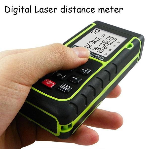 40M / 60M / 80M / 100M 131ft RZ40 Distanziometro laser Strumento livella a bolla Telemetro Telemetro Misura nastro Area / Volume M / in / Ft