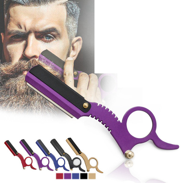 top popular Men Professional Straight Edge Barber Razor Classic Travel Home Barber Razor Beard Shaving Hair Removal Tools 5 styles RRA1515 2021