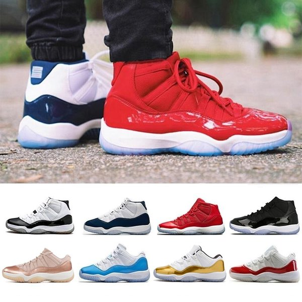 New 11 high low le 11s Basketball Shoes air Rose Gold men women blue Varsity Red Platinum Tint Infrared 23 Cap and Gown j11 retro Sneakers
