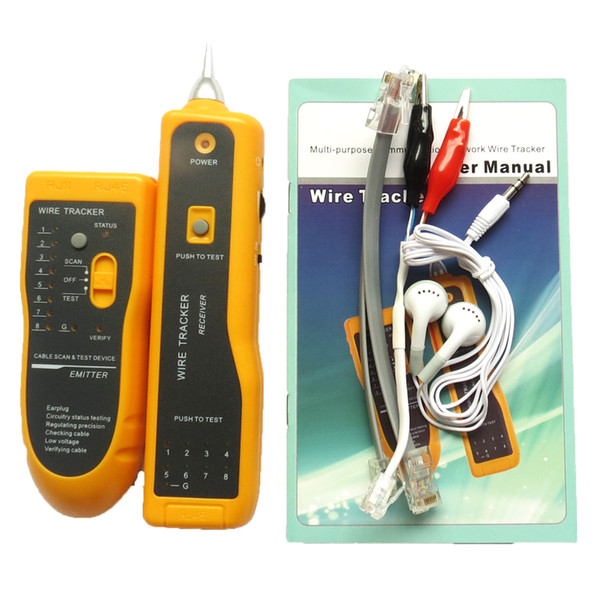 Wholesale LAN Network Cable Tester Cat5 Cat6 RJ45 UTP STP Line Finder Telephone Wire Tracker Tracer Diagnose Tone Tool Kit
