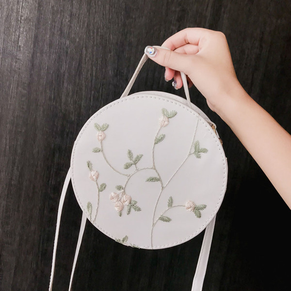 Ladybabag Brand Women's Fashion Lace Fresh Handbag Crossbody Bag Solid Color Small Round Bag Dropshipping bolsas feminina