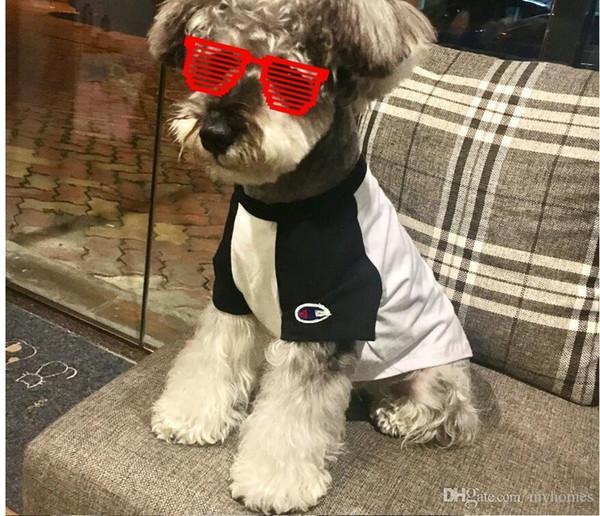 Chien mignon été t-shirt marque de marée Teddy mignon chiot Schnauzer vêtements Casual mignon petit chien Hip Hop vêtements