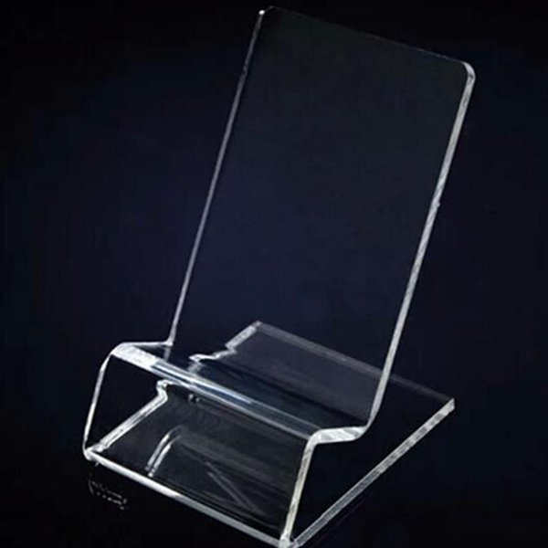 Acrylic Cell phone mobile phone Display Stands Holder stand for 6inch Smart phone samsung HTC DHL fast delivery