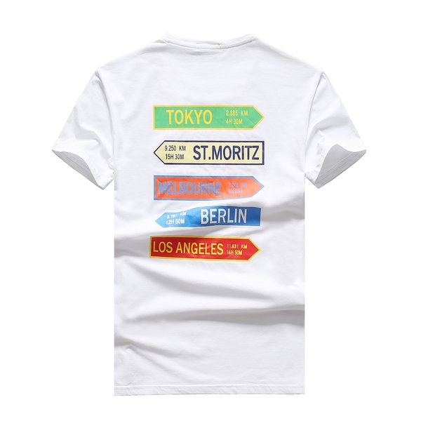 2019 Summer M Brand Short Sleeve Men's T-Shirts 1006 O-neck Fashion design casual France style cotton Man Clothing tshirt Round collar tees