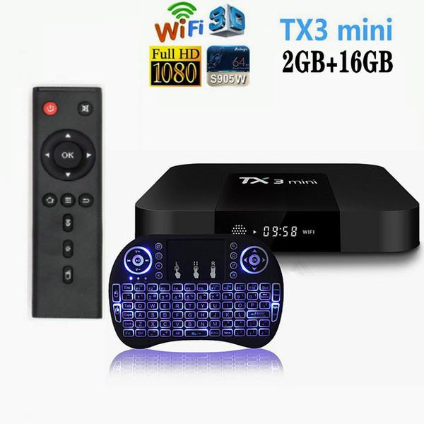 top popular TX3 Mini Android 8.1 TV Box S905W Quad Core 2GB 16GB 2.4G Wifi Smart TV Box Caja de tv android 2020